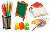 Elementary school design vector elements set. — Stock Vector