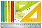Rulers. Vector. — Stock Vector