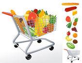 Supermarket cart. — Stock Vector