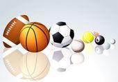 Sport balls. — Stock Vector