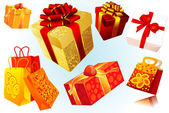 Gifts. Vector. — Stock Vector