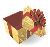 Golden gift box. — Stock Vector