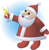 Santa. Vector. — Stock Vector