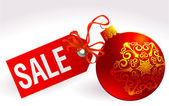 Christmas sale sign. — Vettoriale Stock