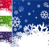 Snowflake background set. — Stok Vektör