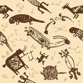 African indigenous tiled wild animal texture — Stock Vector