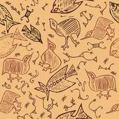 African animal tribal texture — Stock Vector