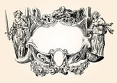 Victorian heraldic frame — Stock Vector