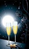 Celebrating Champagne. — Stock Vector