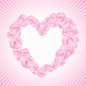 Vector rose Valentine's heart — Stock Vector