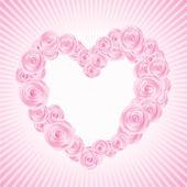 Vector rose Valentine's heart — Stok Vektör