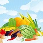 Summer vegetables. — Stock Vector #45162073