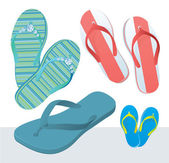 Beach slippers. — Stock Vector