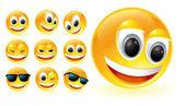 Vector smiles glossy set — Vettoriale Stock