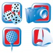 Set of recreational icons. — Stock Vector #45175747