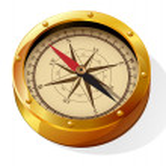 Golden compass. — Stock Vector #45170829