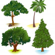 Vector trees. — Stock Vector