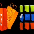 Shopping bags vector set. — Stock Vector