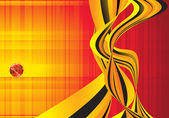 Orange wave flow abstract vector background. — 图库矢量图片