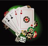 Gioco d'azzardo astratto. — Vettoriale Stock