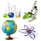 Natural sciences vector icon set. — Stock Vector
