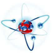 Atom. Vector. — Stock Vector