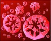 Cristal blue snowflakes — Stock Vector