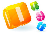 Glossy transparent vector abc cubes. — Wektor stockowy