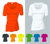 T-shirt vector templates. — Stock vektor
