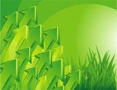 Green arrow vector background. — Stock Vector