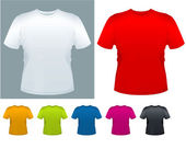 Men's T-shirt vector template. — Vecteur