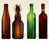 Vine bottles. — Stock Vector