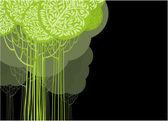 绿色抽象. — 图库矢量图片
