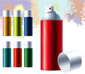 Graffiti color spray. — Stock Vector