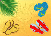 Tropical beach abstract. — Wektor stockowy