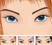 Eyes. — Stock Vector
