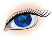 Global sight. — Stock Vector
