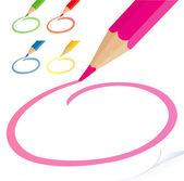 Pencils. — Stock Vector