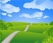 Summer road. — Stock Vector