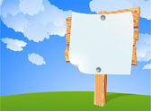 Blank information boards. — Vettoriale Stock