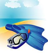 Diving equipment. — Stock Vector
