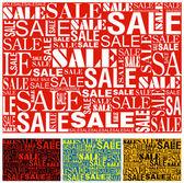 Big sale seamless vector texture. — Stock Vector