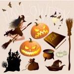 Halloween design elements and decorations — Stock Vector #45204815