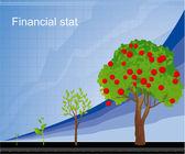 Drow chart. — Stock Vector