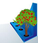 Grow. Vector. — Stock Vector