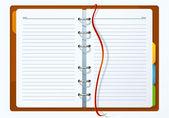 Diary. Vector. — Stock Vector