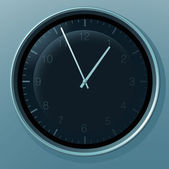 Office clock. — Stock Vector