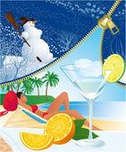 Unzip summer — Stock Vector