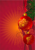 Christmas decoration . — Stock Vector