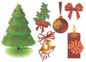 Christmas design elements. — Stock Vector